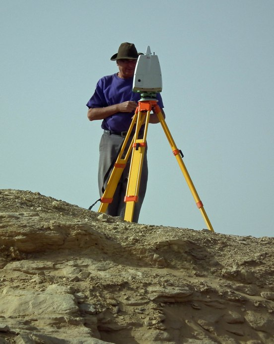 Joel at laser scanning at HK64